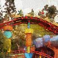 Gadget Go Coaster Disneyland Toontown Photo Art 02 by Thomas Woolworth