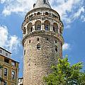 Galata Tower Landmark In Istanbul Turkey by Jacek Malipan