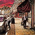 Galena Illinois Happy Shopper by Randall Branham