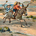 Galloping Donkey At The Beach by Unknown