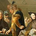 Gamblers In The Foyer by Johann Heinrich Tischbein