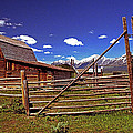 Gambrel Barn And Tetons by Rich Walter