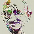 Gandhi Watercolor by Naxart Studio