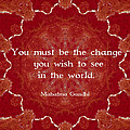 Gandhi Wisdom Saying About Action by Quintus Wolf