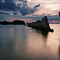 Gandy Wall At Sunset II by Daniel Woodrum
