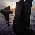 Gandy Wall At Sunset IIi by Daniel Woodrum