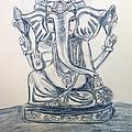 Ganesha In Blue by LeNae Goolsby