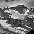 509427-bw-gannett Peak And Gooseneck Glacier, Wind Rivers by Ed  Cooper Photography