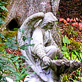 Garden Angel Statue by Duane McCullough