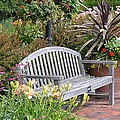 Garden Benches 3 by Jeelan Clark