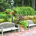 Garden Benches 7 by Jeelan Clark