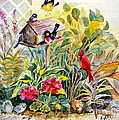 Garden Birds by Marilyn Smith