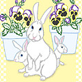 Garden Bunnies by Alison Stein