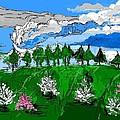 Garden Clouds by Alberto Lacoius-Petruccelli