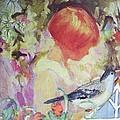 Garden Girl - Antique Collage by Eloise Schneider Mote