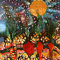 Garden In Moonlight by Carol Law Conklin