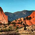 Garden Of The Gods Sunrise Panorama by Adam Jewell