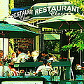 Garden Party Celebrations Under The Cool Green Umbrellas Of Restaurant Chase Cafe Art Scene by Carole Spandau