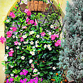 Garden Screen With Flowers by Alla Albert