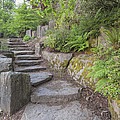 Garden Stair Steps With Natural Rocks by Jit Lim