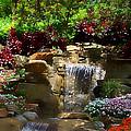 Garden Waterfalls by Pharris Art