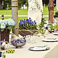 Garden Wedding Table Setting by Sophie McAulay