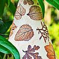 Garden Leaf Pattern Windchime by Ginger Wakem