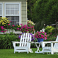 Garden With Lawn Chairs by Elena Elisseeva