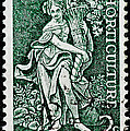 Gardening And Horticulture Vintage Postage Stamp Print by Andy Prendy