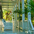 Gardens Porch In Key West by David Van Hulst
