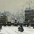 Gare Du Nord Paris by Eugene Galien-Laloue