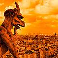 Gargoyle Guardian Of Paris by Mark Tisdale