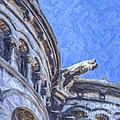 Gargoyle On Sacre Coeur by Liz Leyden