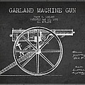 Garland Machine Gun Patent Drawing From 1892 - Dark by Aged Pixel