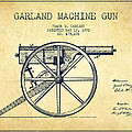 Garland Machine Gun Patent Drawing From 1892 - Vintage by Aged Pixel