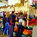 Garlic Festival Farmers Market Food Vendors Onions Garlic Farm Fresh Chef Art Carole Spandau by Carole Spandau