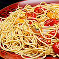 Garlic Pasta And Grape Tomatoes by Andee Design