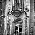 Garrison Hall Window Ut Bw by Joan Carroll