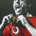 Gary Neville - Manchester United Fc by Geo Thomson