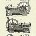 Gas Engine 1890 Patent Art by Prior Art Design