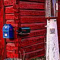 Gas Pump Post Office by Harold Rau