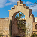Gate At San Xavier Del Bac by Ed Gleichman