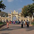 Gate To Maharaja's Palace India Mysore by Carol Ailles