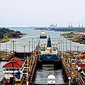 Gatun Locks Panama Canal by Kurt Van Wagner