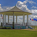 Gazebo At Fort Monroe by Jerry Gammon