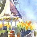 Gazebo On The City Square by Kip DeVore