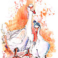 Geese In Spanish Winter by Miki De Goodaboom