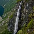 Geirangerfjord Waterfall by Benjamin Reed