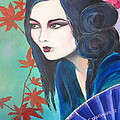 Geisha In Autumn by Camille Youngquist
