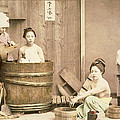 Geishas Bathing by English School